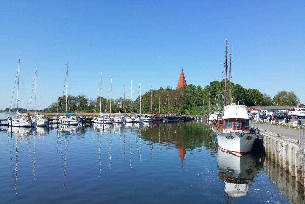 Insel Poel-Blick zum Hafen