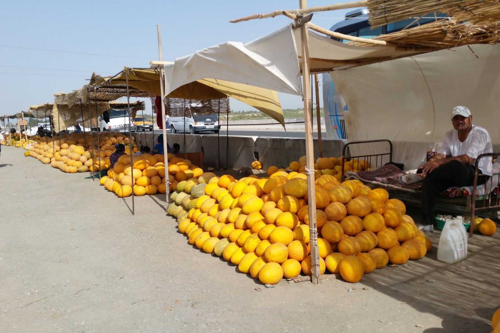 Melonenmarkt in Usbekistan