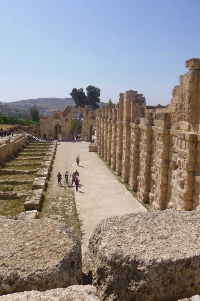 Jerash-Blick zum Südtor
