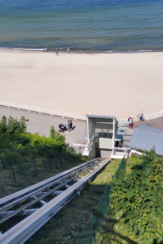 Aufzug an der Selliner Steilküste