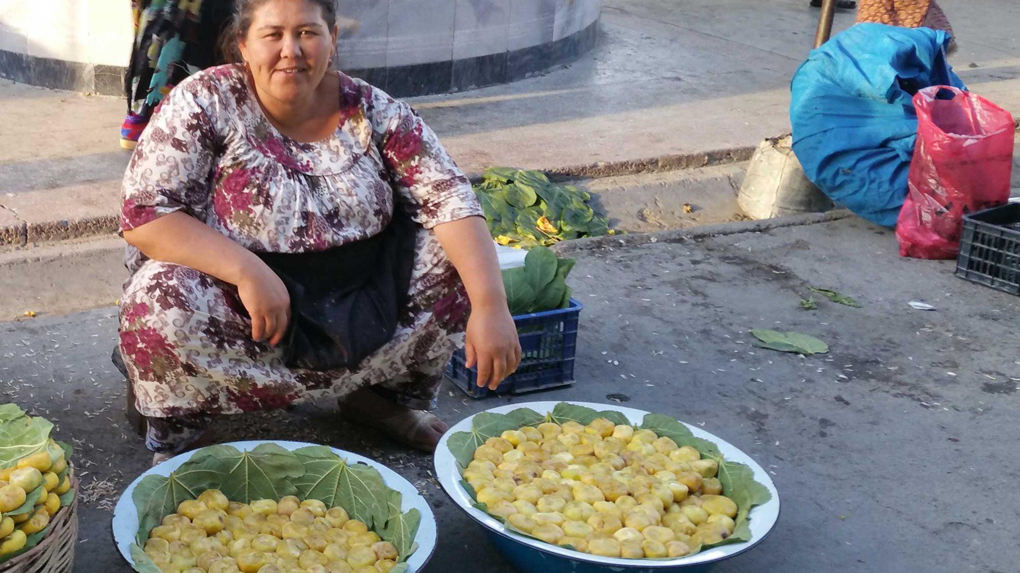 Feigenverkauf in Samarkand